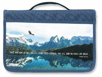 Inspiration Eagle Canvas Navy Large Bible Cover by Zondervan Brand New