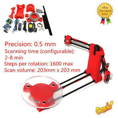 3D Scanner DIY Kit Open Source Object Scaning For Ciclop Printer Scan Red New F7