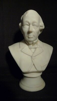 Large Goss China Parian Bust Of Beaconsfield