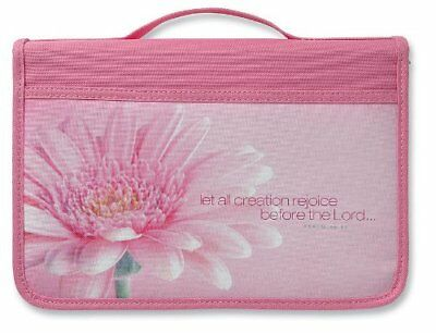 Inspiration Rejoice Canvas Pink Large Bible Cover by Zondervan  Brand New