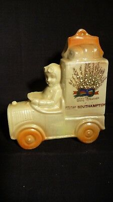 Crested China Girl In Car With Luggage - Lucky White Heather Southampton