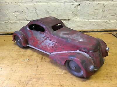 Vintage England Wolverine? Clockwork Germany Usa Tin Plate Toy car Barn Find