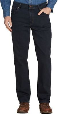 Wrangler Texas Stretch Blue Black Jeans in Waist 30 to 48 Inches, L26 to 34