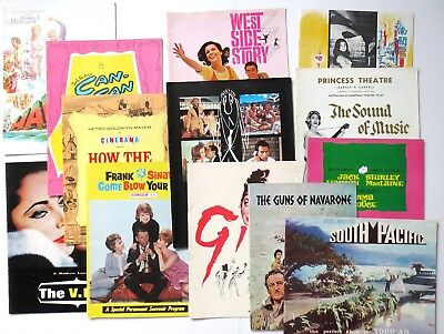 Lot of 13 Vintage Movie Theatre Souvenir Programs - 1950s 60s - Sinatra, Peck,