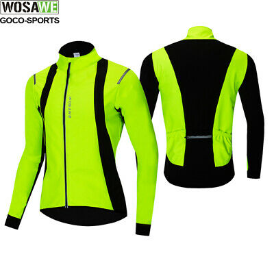 Winter Cycling Jacket Thermal Soft Fleece sports coat Windproof+3 pockets Warm
