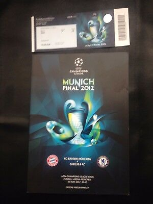 Chelsea FC 6 x Champions League Programmes & tickets inc. 2008 and 2012 Finals