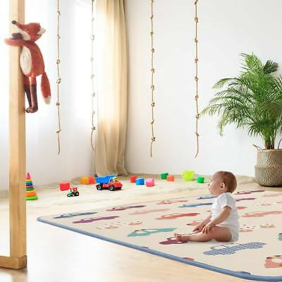 Play mat rug with alphabet two-sided BABY VIVO foam carpet for kids educational