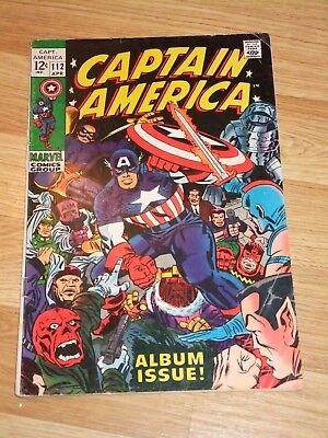 Marvel Comic Captain America 112 April 1969 Jack Kirby