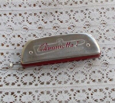 RARE Vintage Chrometta I M. Hohner Harmonica Germany With Slide Plays Nice Key C