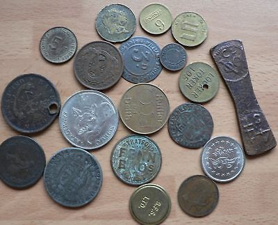 A Collection Of Tokens, Fake Coins & Miscellaneous Oddments