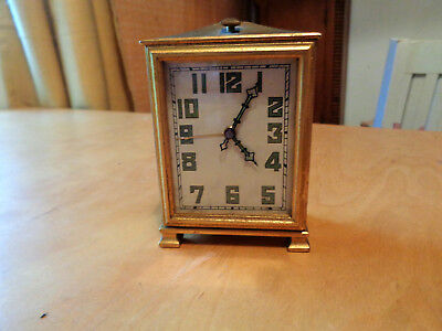 VINTAGE ART DECO 1920's 'ZENITH' SWISS 30Hr TRAVEL ALARM CLOCK