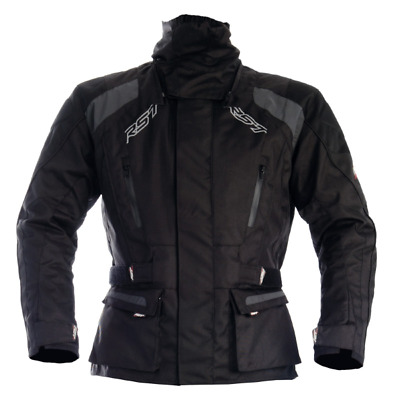 NEW RST TUNDRA VENTED 3/4 WATERPROOF JACKET BLACK SILVER Dualsport Offroad Adv