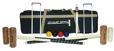 Family Croquet Set- 4 Player Complete with bag and 4 mallets etc