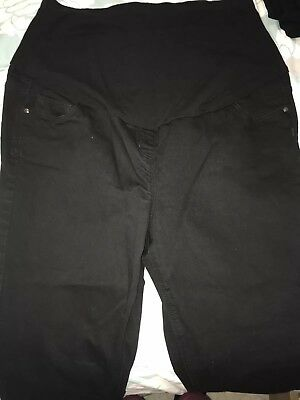 George At Asda Maternity Jeans - Size 16 Black