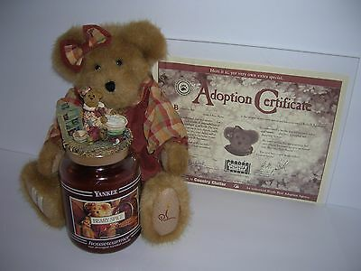 EXTREMELY RARE 4pc Yankee Candle & Boyds Bear for Country Clutter Spicebeary Set