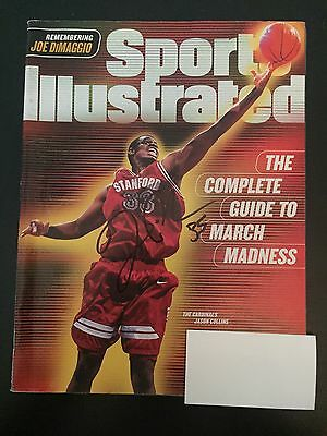 Jason Collins Signed Sports Illustrated Stanford