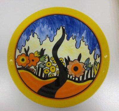 #1 Clarice Cliff Wedgwood Collectable Limited Bizarre Plate 'Garden Blue' *