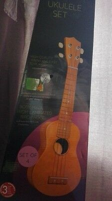 Ukulele Set High-Quality Finish And Easy To Play(With Nylon Strings)