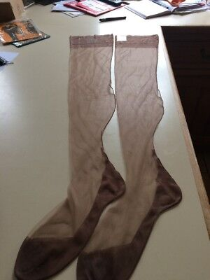 Vintage Fully Fashioned Stockings Size 10