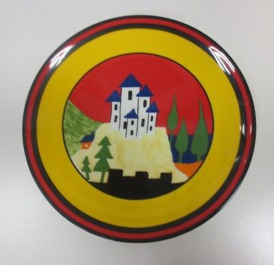 #3 Clarice Cliff Wedgwood Collectable Limited Bizarre Plate 'Blue Lucerne' *