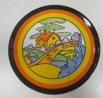 #5 Clarice Cliff Wedgwood Collectable Ltd Bizarre Plate 'Orange Roof Cottage' *