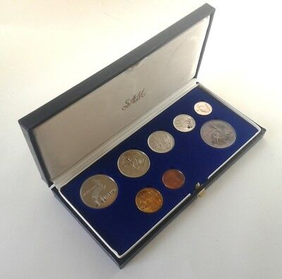 South Africa Proof Coin Set 1987 as Issued by the S A Mint in Original Box #CIM