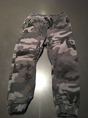 Boys Next Grey camouflage Trousers Age 3