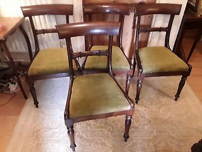 beautiful set of 4 regency chairs