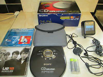 Sony Walkman D-EJ715 Portable CD Player + Accessories,Boxed....