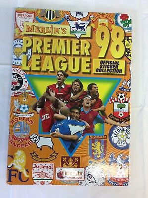 MERLIN'S PREMIER LEAGUE 98 COMPLETE STICKER COLLECTION IN BINDER (ref 7)