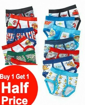 Buy 1 Get 1 50% OFF (Add 2 to Cart) Boys Underwear Briefs 2pk-6pk FREE US Ship