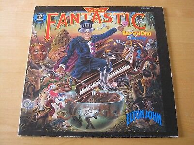 Elton John 1975 DJM LP Captain Fantastic & the Brown Dirt Cowboy, g/f, booklets