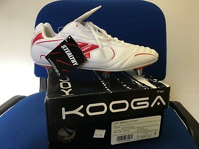 Kooga Stealthy LCST Rugby Boot Size 9 White/Red