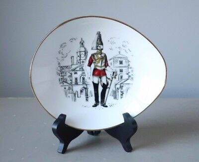 Crown Staffordshire Queensbury Dish The Kings Life Guard of Horse