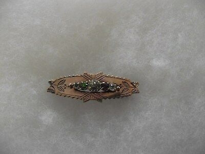 Suffragette Gold Front Brooch - C1895,  'give Women The Vote' Crystal Setting