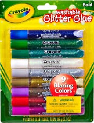 Crayola Washable Glitter Glue 9 Pens Buy 1 Get 1 25% OFF (Add 2 to Cart)