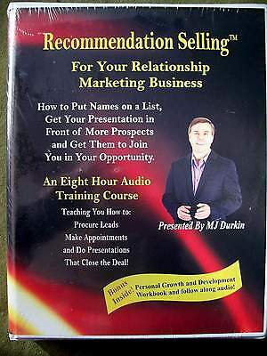 The Recommendation Selling Course by MJ Durkin (8 hour Audio Course) BRAND NEW!!