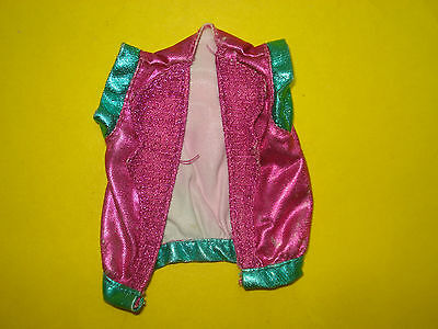 Vtg Jem and the Holograms 80s Doll Clothes RAYA'S Metallic VEST