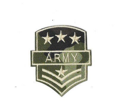 ARMY Iron on / Sew on Patch Embroidered Badge Motif Camo Cosplay Costume PT307