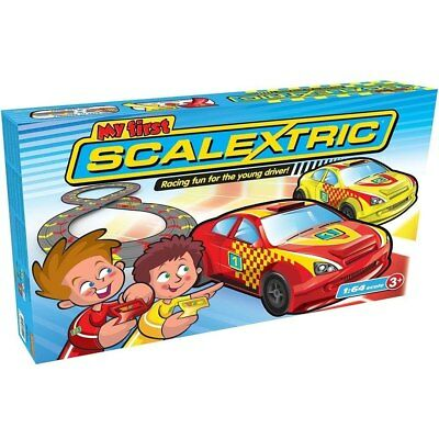 (damaged box) My First Scalextric 2 Pack, Kids Slot Car Racing Action Set,