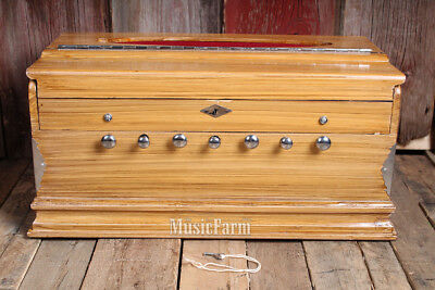 Simple Box Harmonium 23 Key 7 Stop with Octave Coupler and Sliding Jali Natural