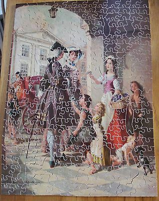"""Vintage Victory Artistic about 300  piece wooden Puzzle  """"Lovely Violets""""."""