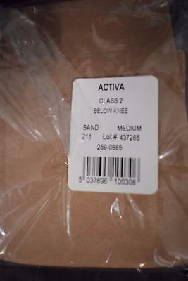 ACTIVA  Class 2 Below Knee Closed Toe Compression Stockings Size Medium SAND