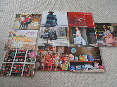 Cath Kidston Catalogues / Small Brochures x 10 - 2015 2016 2017 incl Christmas