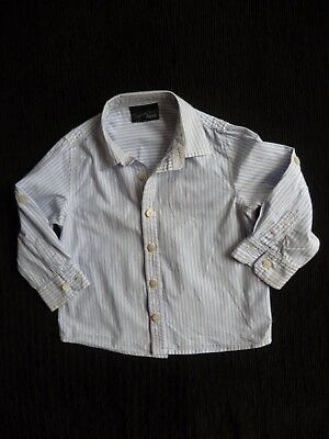 Boys clothes 2-3 years NEXT formal shirt long sleeve blue/white stripe SEE SHOP!