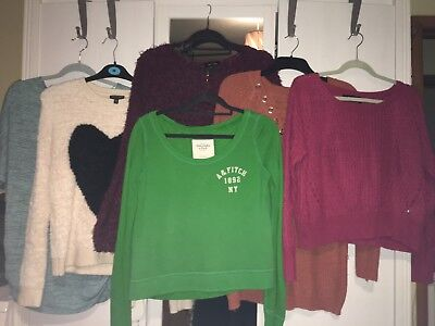 Ladies Jumpers Bundle Size 10 (Topshop, New Look, Abercrombie & Fitch etc)