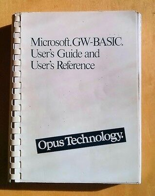 GW Basic - OPUS TECHNOLOGY GW-BASIC User's Guide and Reference