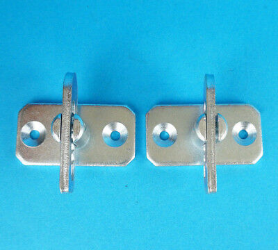 2 x Pre-welded Antiluce Fastener on Plate - Trailer Tail Gate Drop Catch