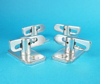 4 x Pre-welded Antiluce Fastener on Plate - Trailer Tail Gate Drop Catch