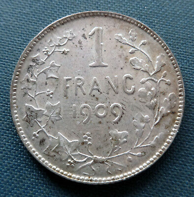 Belgium 1 Franc 1909 (french)  Silver